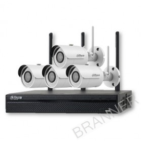 Imagén: KIT IP WIFI 4 CÁMARAS EXTERIOR 1.3MP NVR HDD 1TB DAHUA.