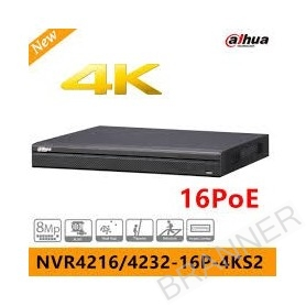 NVR 16 CANALES IP 16 CANALES POE 4K Dahua NVR4216-16P-4K NVR Dahua