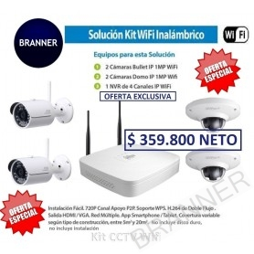 KIT WIFI FULL HD 4 CÁMARAS Dahua VEPROMO001 Kit de Cámaras de seguridad HD
